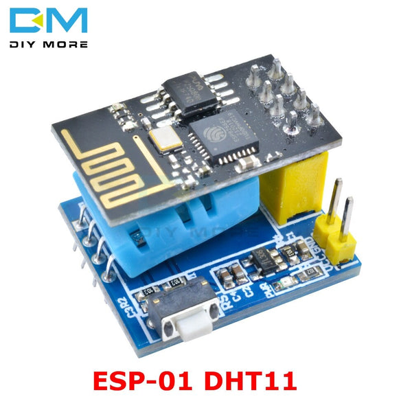 Blue - ESP8266 ESP-01/ESP-01S DHT11 Serial Temperature Humidity Sensor Transceiver Receiver Module for Arduino NodeMCU Wireless WIFI