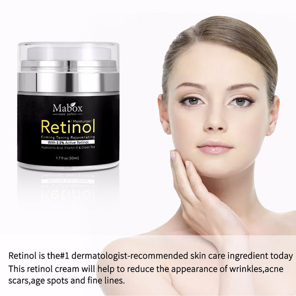 [variant_title] - Mabox 50ml Retinol 2.5%Moisturizer Face Cream Hyaluronic Acid AntiAging Remove Wrinkle Vitamin E Collagen Smooth Whitening Cream