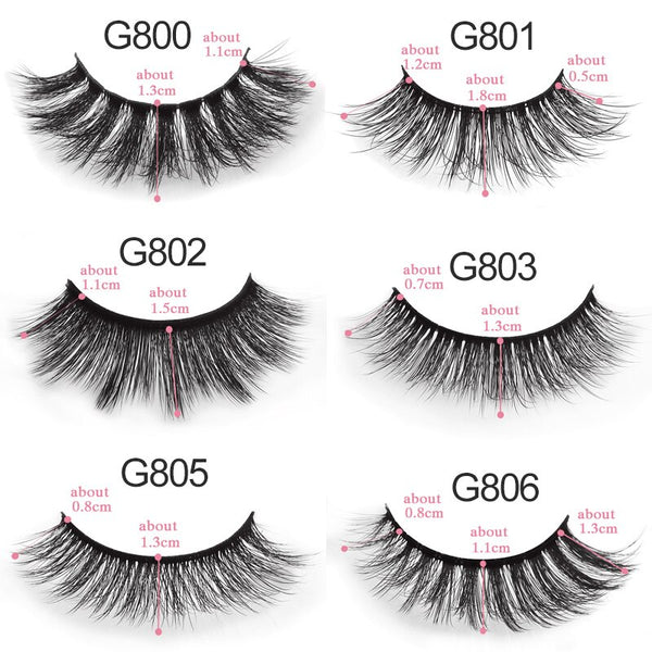 [variant_title] - 5 pairs false eyelashes natural 3D mink lashes makeup eyelash extension long mink eyelashes volume fake eye lashes cilio russian