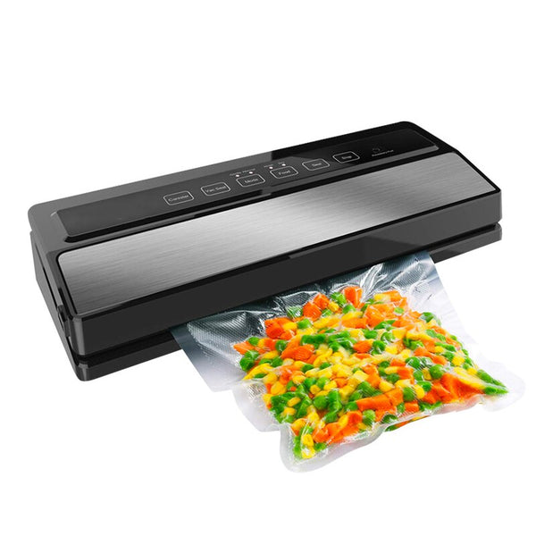 [variant_title] - Food Vacuum Sealer Fully Automatic Portable 220V 110W Household Food Wet Dry Packaging Machine Sealing send 5Pcs Bags