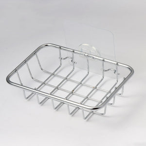 13.5x9.3x3cm - Stainless Steel Hot Sink Hanging Storage Rack Holder Faucet Clip Bathroom Kitchen Dishcloth Clip Shelf Drain Dry Towel Organizer