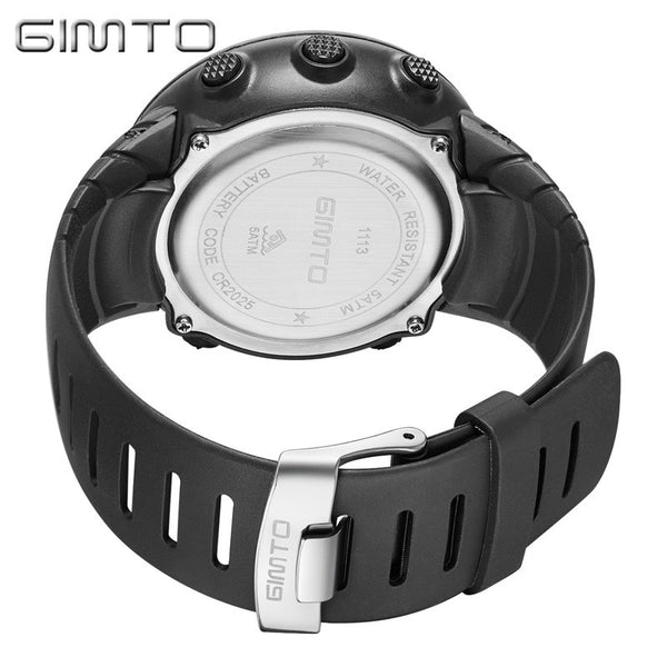 [variant_title] - GIMTO Smart Watch Men Bluetooth Pedometer Stopwatch Digital LED Electronics Sport Watches For Men Smartwatch relogio masculino