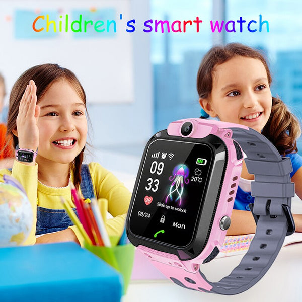[variant_title] - 2019 kids Smart Watch LBS Positioning Tracker ip67 Waterproof Children Watch SOS Emergency Call Support SIM Card Baby Watch kids