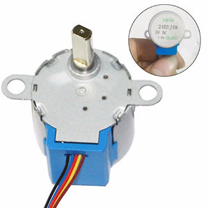 [variant_title] - 24BYJ48 Gear Stepper Motor Micro DC 5V Reduction Stepper Motor 4 Phase 5 Wire Stepper Motor Reduction Ratio 1/64 For Arduino