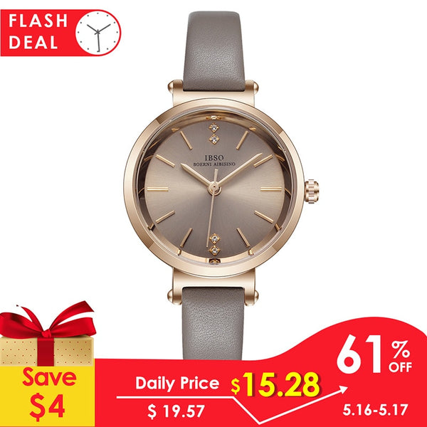[variant_title] - IBSO 8 MM Ultra-Thin Wrist Women Watches Luxury Female Clock Fashion Montre Femme 2019 Quartz Ladies Watch Relogio Feminino