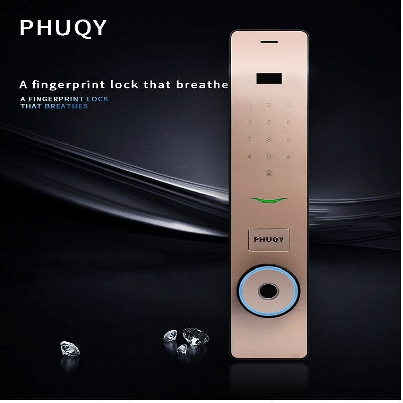 Default Title - Automatic Anti-Theft Door Breathing Light Smart Lock Home Fingerprint Lock Code Lock Magnetic Card Lock PHUQY-FQ8 …
