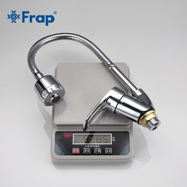 [variant_title] - FRAP Solid Kitchen Mixer Cold and Hot flexible Kitchen Tap Single lever Hole Water Tap Kitchen Faucet Torneira Cozinha F43701-B