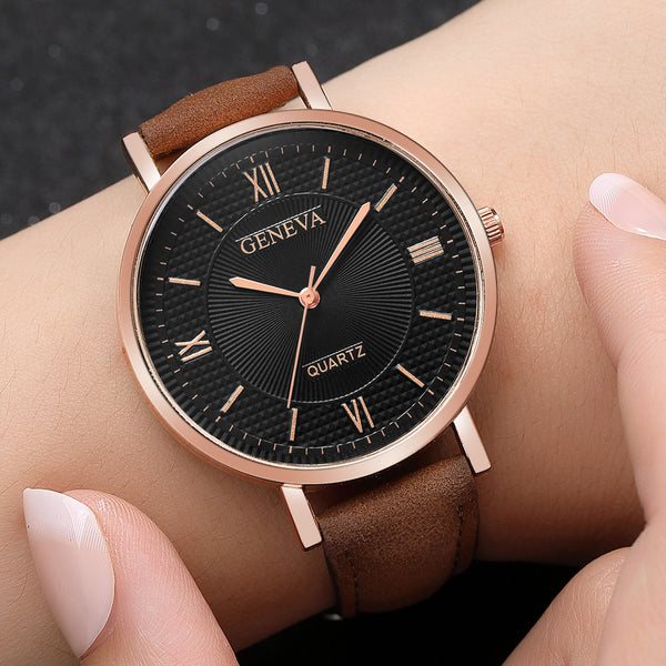 [variant_title] - New Fashion Montre Femme Kadin Saat Watch Women Geneva Hours Clock Leather Quartz Ladies Watch Relogio Feminino Dropshipping &A