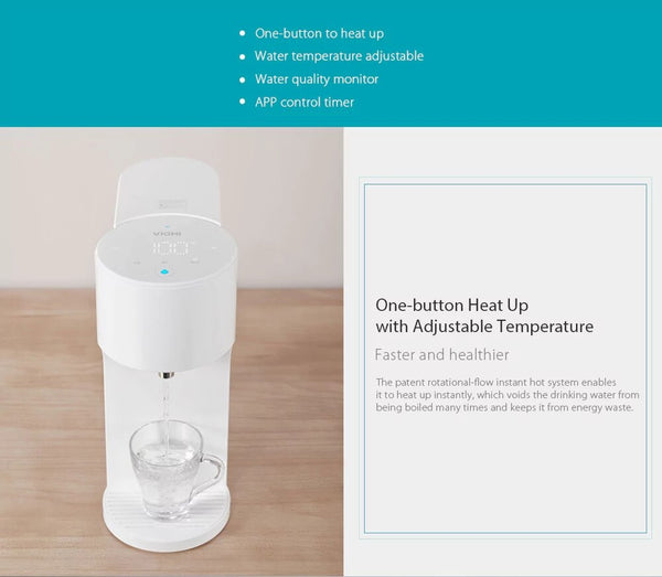 [variant_title] - Xiaomi Viomi 4L Smart Instant Hot Water Dispenser Water-Quality Indes Baby Milk Partner Heater Drinking Water Kettle APP Control