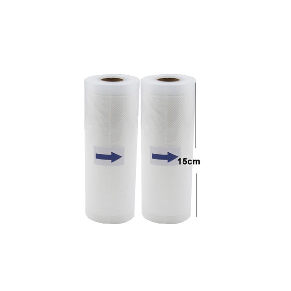 15cm2pcs - 5 Rolls/Lot Kitchen Food Vacuum Bag Storage Bags For Vacuum Sealer Vacuum Packaging Rolls 12/15/20/25/28cm*500cm