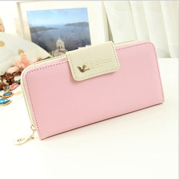 B - Mara's Dream Women Leather Wallet Women's Clutch Bag Hasp Wallet Zipper Long Purses Card Holder High Quality Bolsa Feminina
