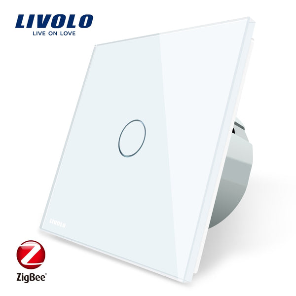 [variant_title] - Livolo EU Standard Zigbee Smart Home Wall Touch Switch, Touch WiFi APP Control, google home control , Alexa, echo control