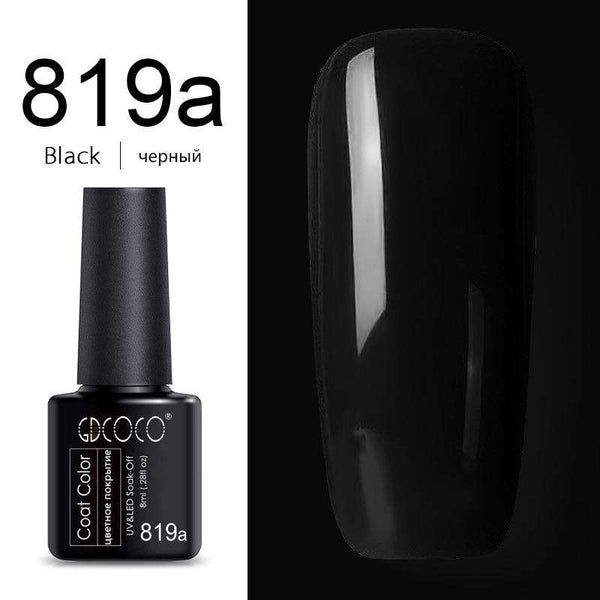 819a Black - #86102 GDCOCO 2019 New Arrival Primer Gel Varnish Soak Off UV LED Gel Nail Polish Base Coat No Wipe Top Color Gel Polish