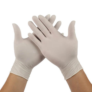 100/50/30/20PCS White Latex Gloves Disposable  Bake Non-Slip Rubber Latex Gloves Household Cleaning Disposable Universal hot