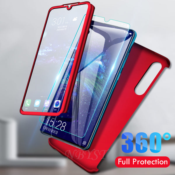 360 Full Protective Case for Huawei Y5 Y9S Y6S Y7 Prime Tempered Glass Cover for Honor 6C Pro 20S 10i 7A 7C 9X 7X 8 Pro 20 Lite