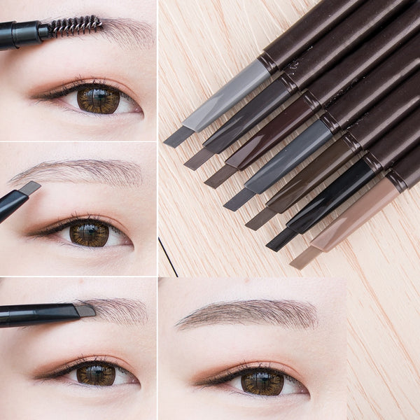 [variant_title] - New 5 Colors Eyebrow Pencil Natural Waterproof Rotating Automatic Eyeliner Eye Brow Pencil with Brush Beauty Cosmetic Tool TSLM2