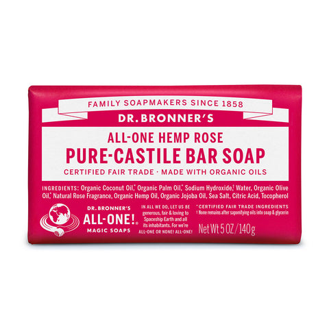 Dr Bronner's Pure-Castile Bar Soap Rose