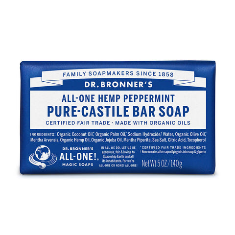 Dr Bronner's Pure-Castile Bar Soap Peppermint