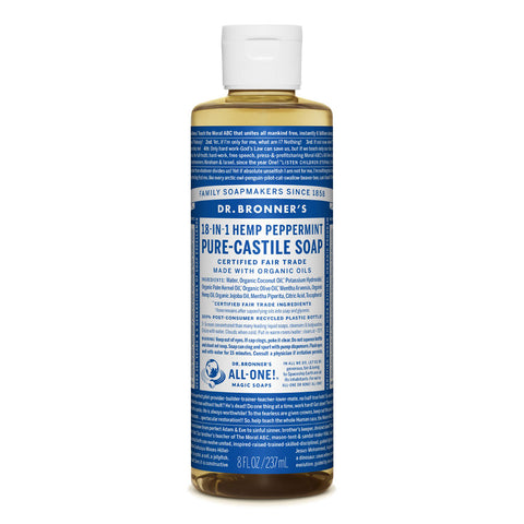 Dr Bronner's Pure-Castile Soap Peppermint 237ml