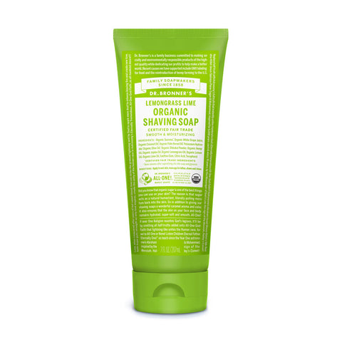 Dr Bronner's Organic Shaving Soap Lemongrass Lime
