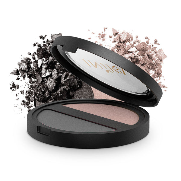 INIKA Pressed Mineral Eyeshadow Duo Black Sand