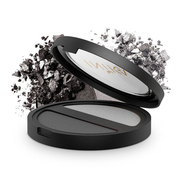 INIKA Pressed Mineral Eyeshadow Duo Platinum Steel