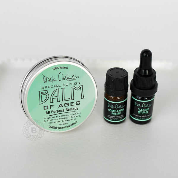 Black Chicken Balm of Ages Organic Body Balm + FREE Mini Face Renewal Pack