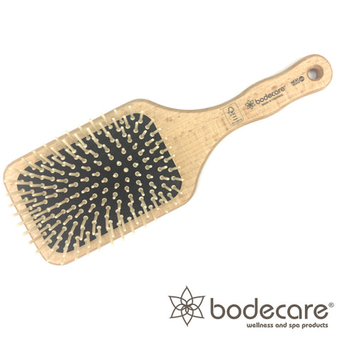 Bodecare Timber Wide Paddle Scalp Massage Hair Brush