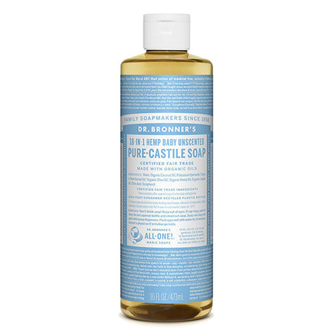 Dr Bronner's Pure-Castile Soap Baby (Unscented)