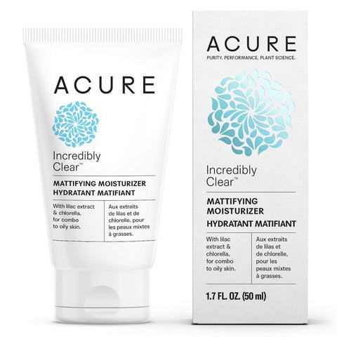 Acure Incredibly Clear Mattifying Moisturiser 50ml