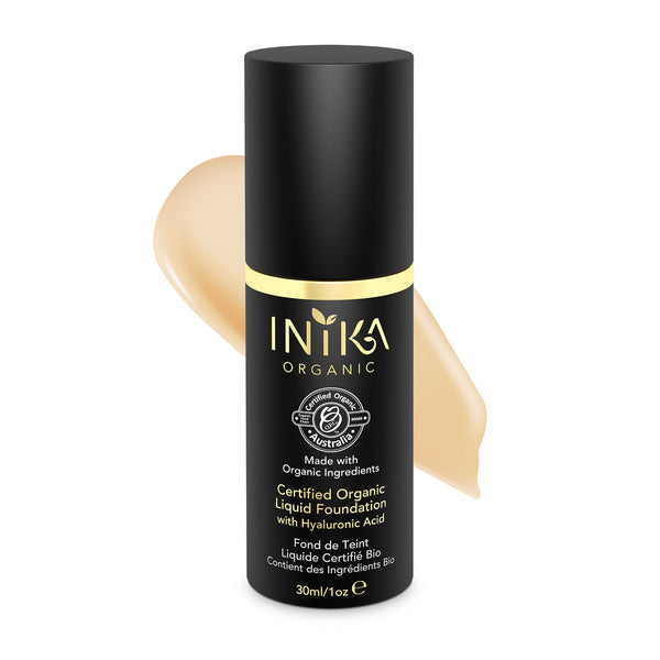 INIKA Certified Organic Liquid Mineral Foundation Beige