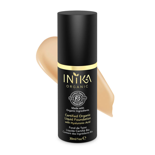 INIKA Certified Organic Liquid Mineral Foundation Honey