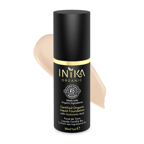 INIKA Certified Organic Liquid Mineral Foundation Porcelain