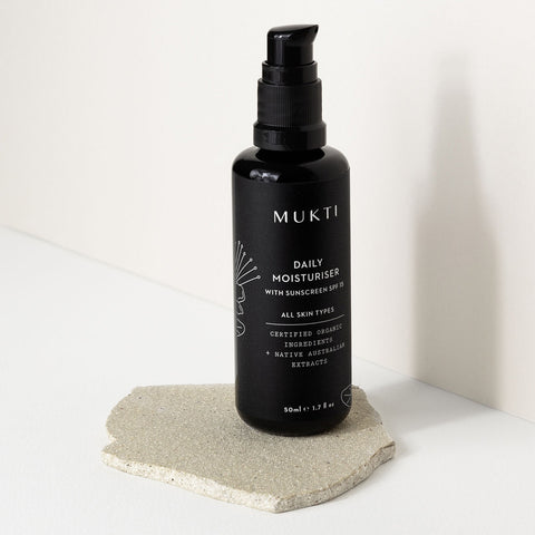 Mukti Daily Moisturiser with Sunscreen