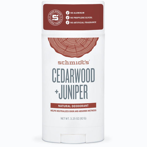 Schmidt's Natural Deodorant Stick - Cedarwood & Juniper