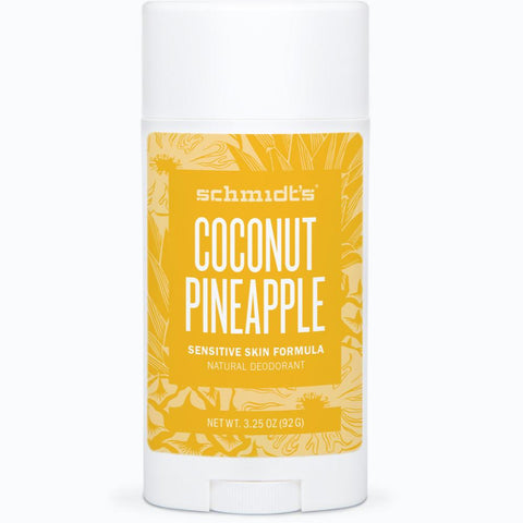 Schmidt's Natural Deodorant Stick for Sensitive Skin - Coconut + Pineapple