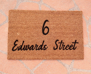 Street Name Doormat  | Personalised Doormat
