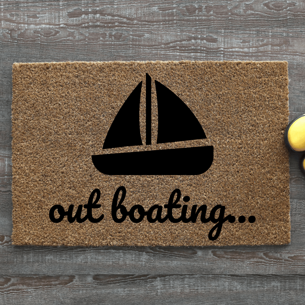 Out Boating doormat