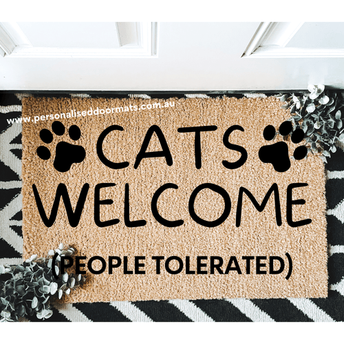 Cats welcomed people tolerated