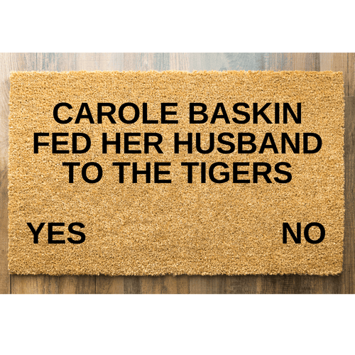 Carole Baskin Tiger King Doormat