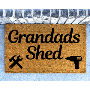The Shed personalised doormat