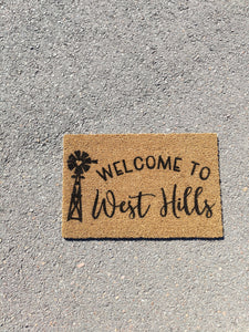 Windmill personalised Doormat
