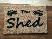 Load image into Gallery viewer, Mans shed Design your own doormat - Personalised Doormats Australia