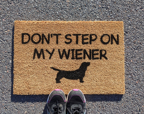 Don't step on my weiner daushund doormat