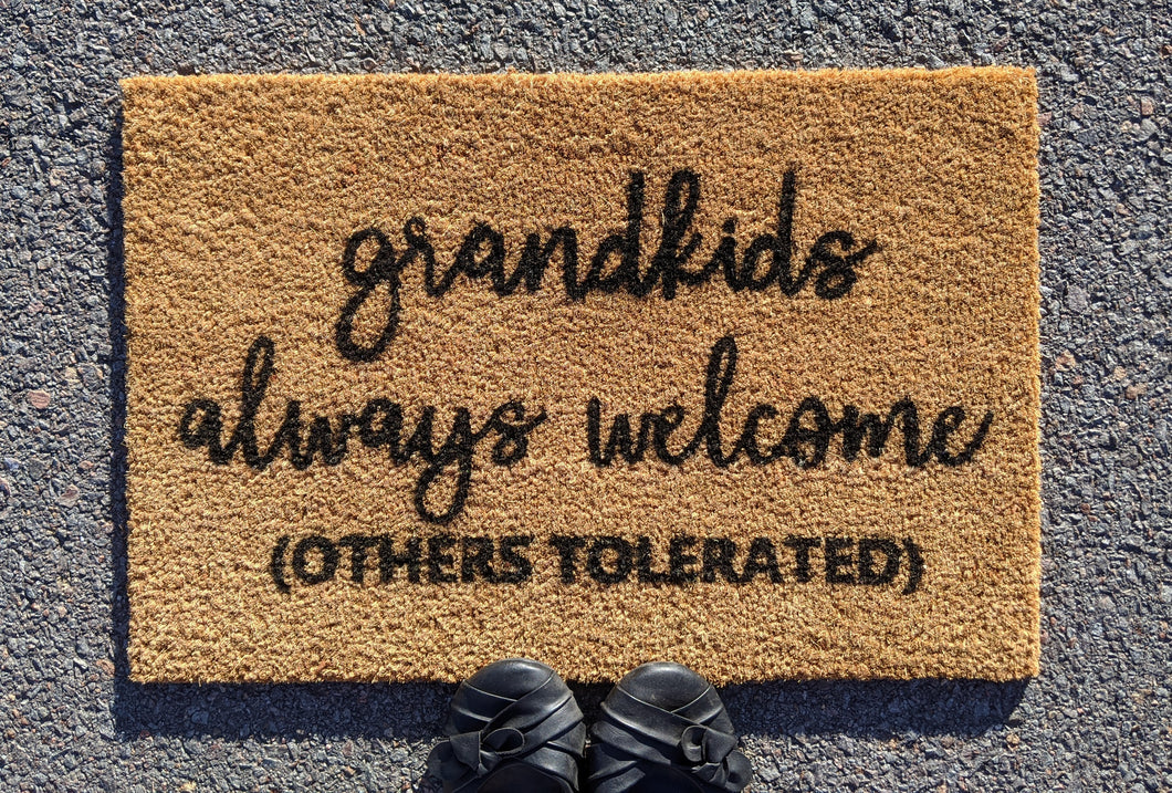 Grandkids always welcome here doormat
