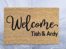 Load image into Gallery viewer, Welcome personalised doormat