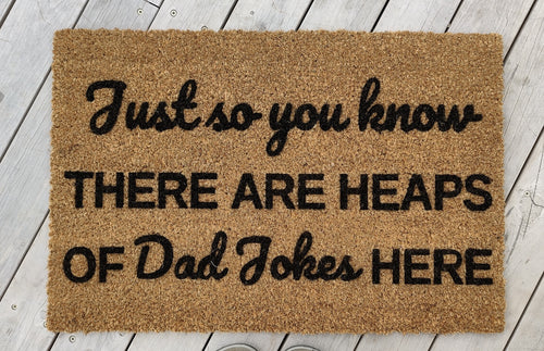 Dad Jokes doormat