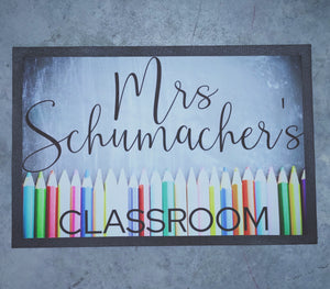 Teachers classroom Doormat in colour!