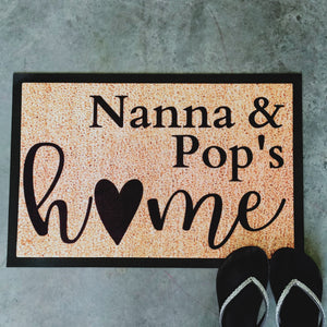 Nanna & Pop's home Personalised Doormat