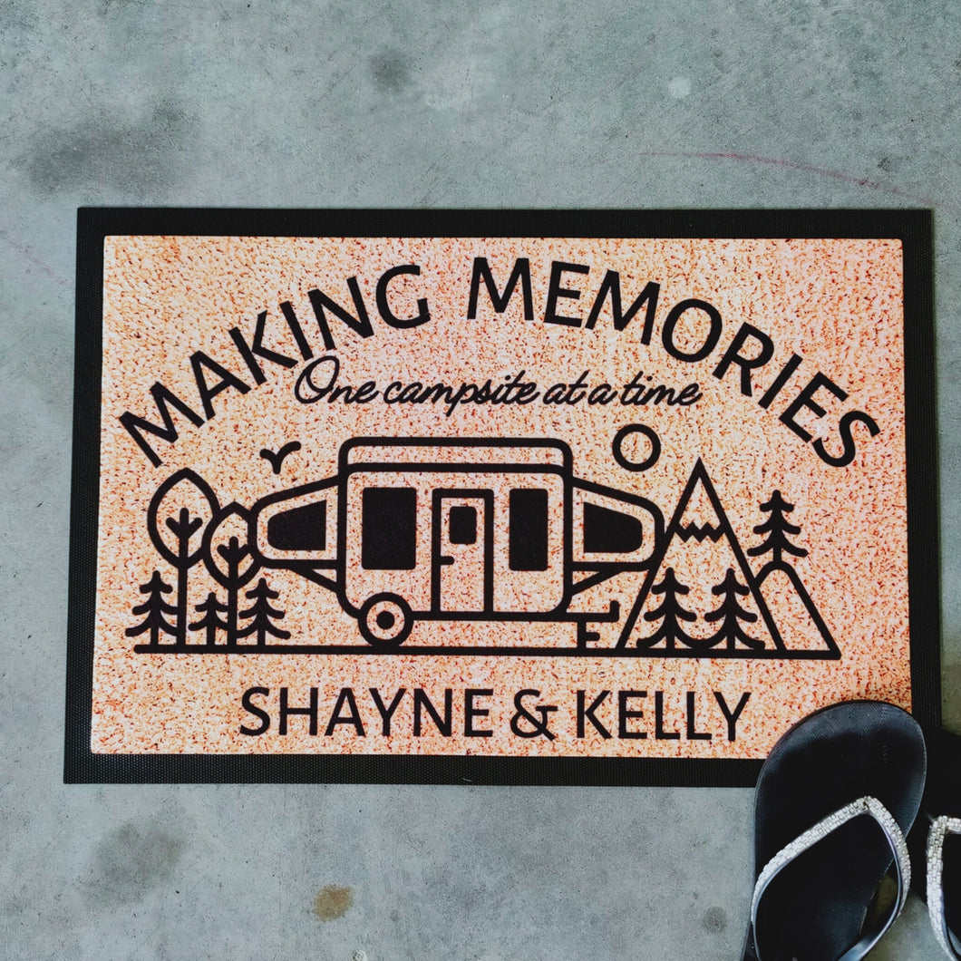 Making memories camping doormat pop-up